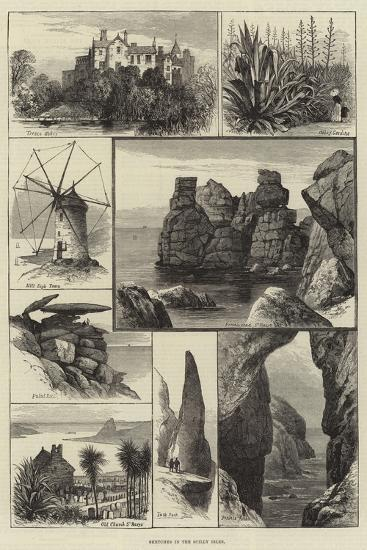 Sketches in the Scilly Isles--Giclee Print