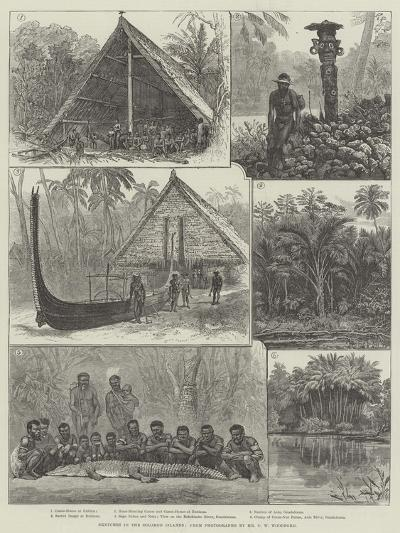 Sketches in the Solomon Islands--Giclee Print