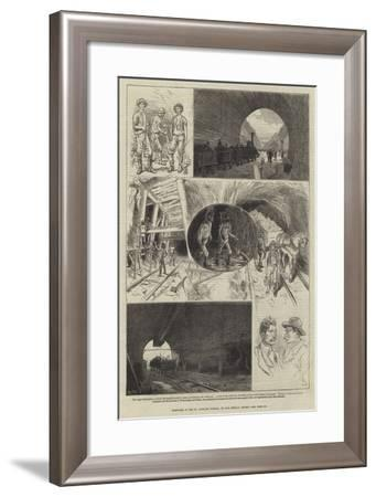 Sketches in the St Gothard Tunnel--Framed Giclee Print