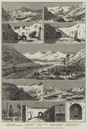 Sketches in Tunis, Dwellings of the Troglodytes--Giclee Print