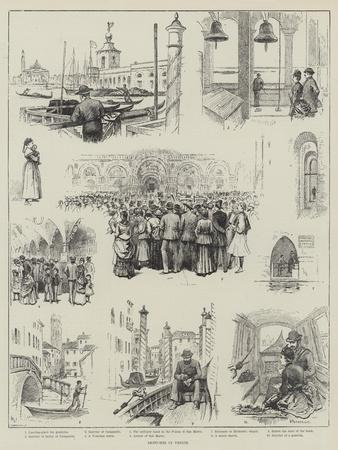 Sketches in Venice-Horace Petherick-Giclee Print