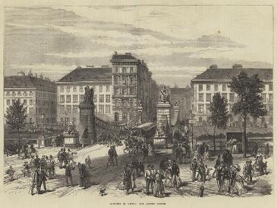 Sketches in Vienna, the Aspern Bridge--Giclee Print