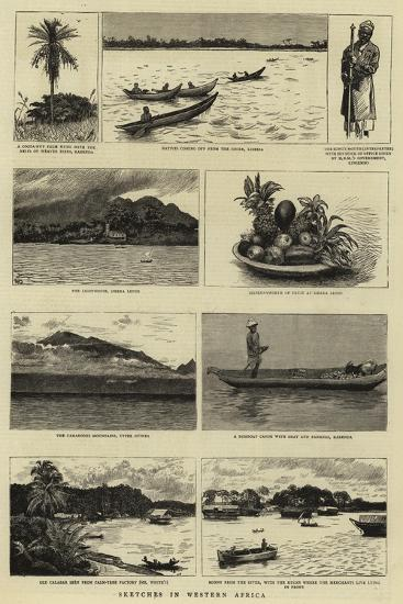Sketches in Western Africa--Giclee Print