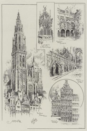 Sketches of Antwerp--Giclee Print