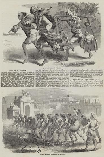 Sketches of Calcutta--Giclee Print