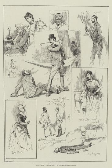 Sketches of Captain Swift at the Haymarket Theatre-David Hardy-Giclee Print