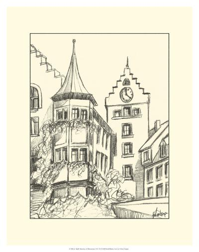 Sketches of Downtown II-Ethan Harper-Art Print