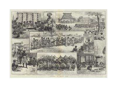 Sketches of Fijian Life--Giclee Print