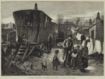 Sketches of Gipsy Life, an Encampment Near Latimer-Road, Notting-Hill-William Heysham Overend-Giclee Print