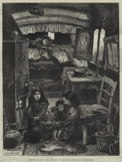 Sketches of Gipsy Life, Interior of Van Near Latimer-Road, Notting-Hill-William Heysham Overend-Giclee Print