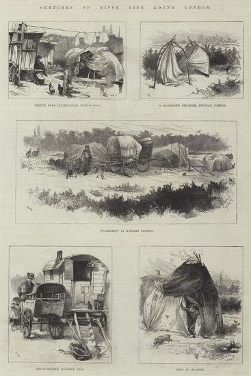 Sketches of Gipsy Life Round London-William Heysham Overend-Giclee Print