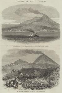 Sketches of Mount Vesuvius