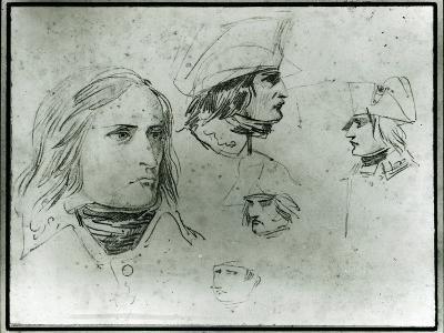 Sketches of Napoleon Bonaparte, 1797-Jacques-Louis David-Giclee Print