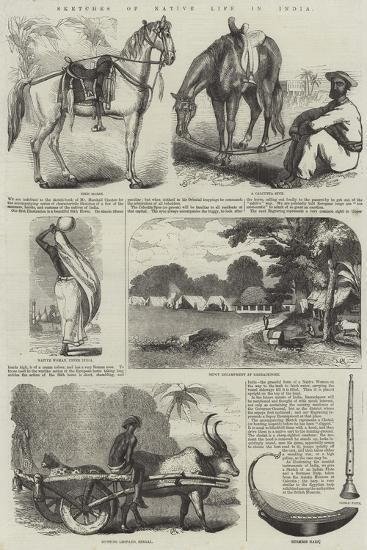 Sketches of Native Life in India--Giclee Print
