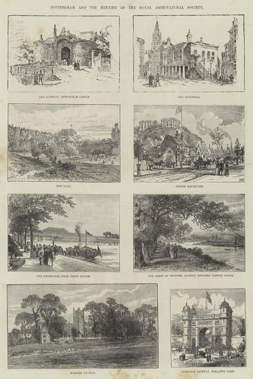 Sketches of Nottingham--Giclee Print