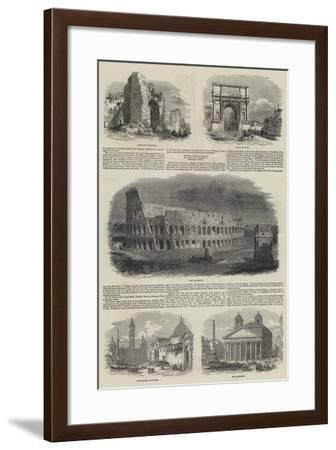 Sketches of Rome--Framed Giclee Print