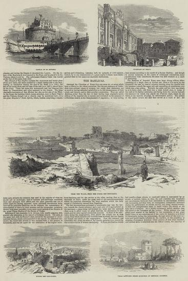 Sketches of Rome--Giclee Print