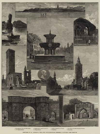 Sketches of St Andrew's, with the Whyte-Melville Memorial Fountain--Giclee Print