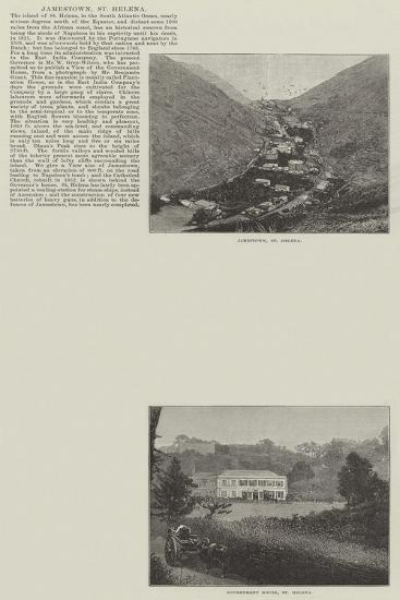 Sketches of St Helena--Giclee Print