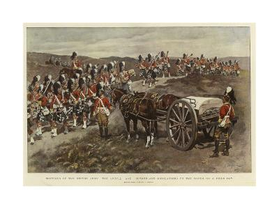 Sketches of the British Army, the Argyll and Sutherland Highlanders on the March on a Field Day--Giclee Print
