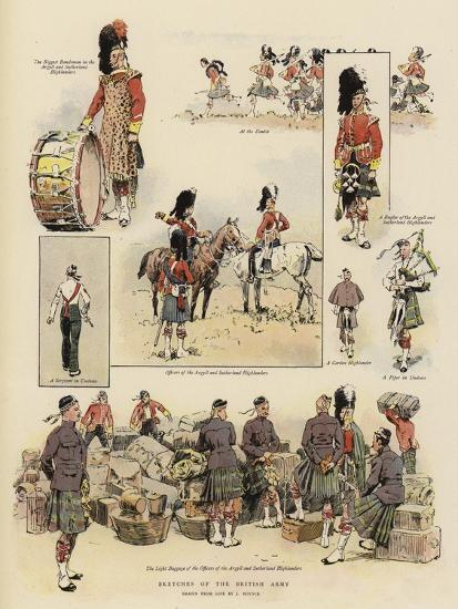 Sketches of the British Army--Giclee Print
