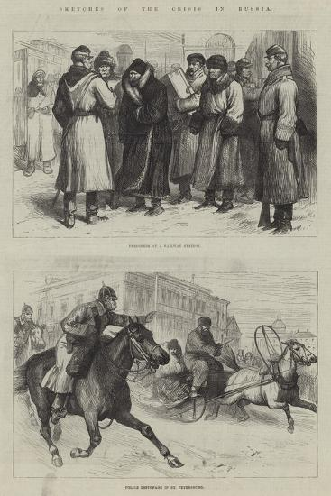 Sketches of the Crisis in Russia--Giclee Print