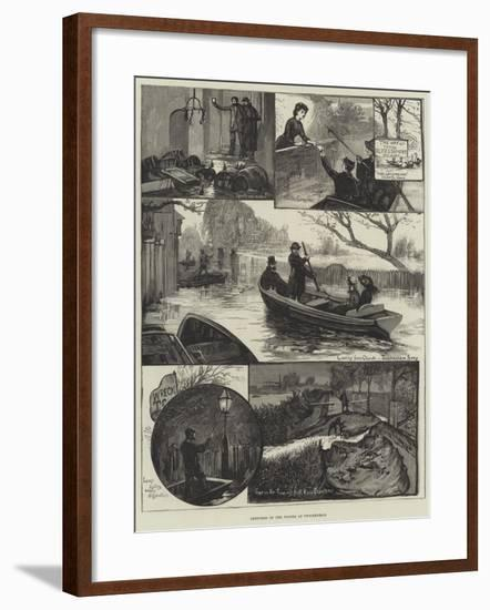 Sketches of the Floods at Twickenham--Framed Giclee Print