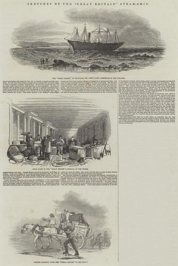 Sketches of the Great Britain Steam-Ship--Giclee Print