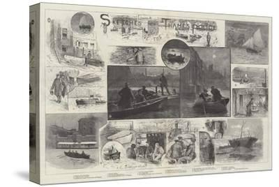 Sketches of the Thames Police-Henry Charles Seppings Wright-Stretched Canvas Print
