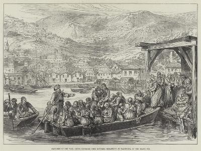 Sketches of the War, Greek Refugees from Kavarna Embarking at Baltschik, on the Black Sea--Giclee Print