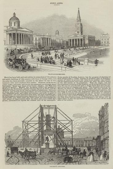Sketches of Trafalgar Square--Giclee Print