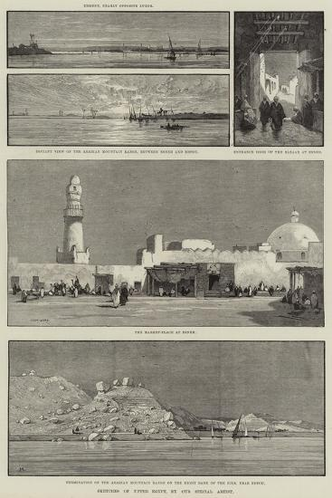 Sketches of Upper Egypt-Charles Auguste Loye-Giclee Print