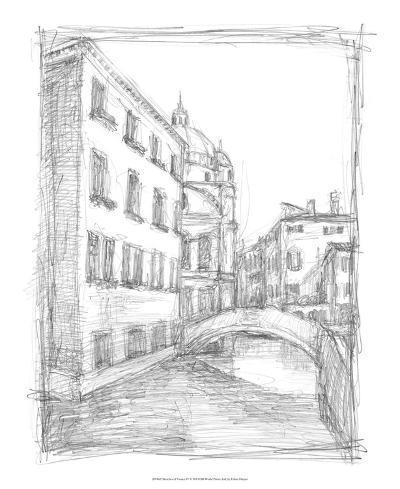 Sketches of Venice IV-Ethan Harper-Premium Giclee Print