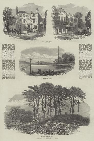 Sketches on Hampstead Heath--Giclee Print