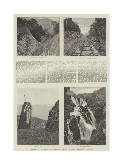 Sketches on the Cairns and Herberton Railway, in North Queensland, Australia--Giclee Print