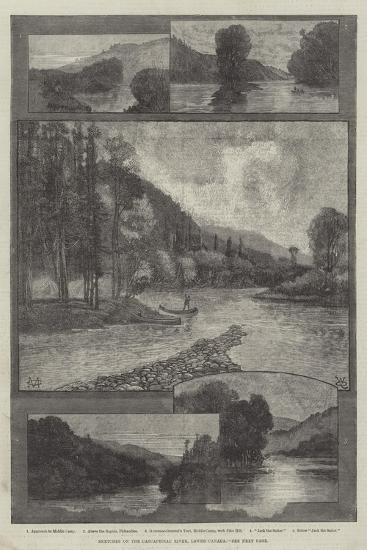 Sketches on the Cascapediac River, Lower Canada-Charles Auguste Loye-Giclee Print
