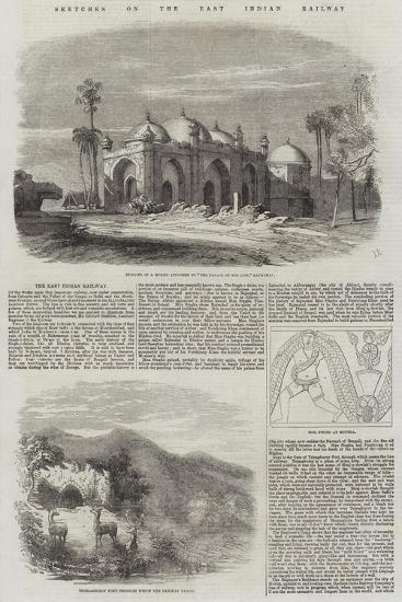 Sketches on the East Indian Railway--Giclee Print