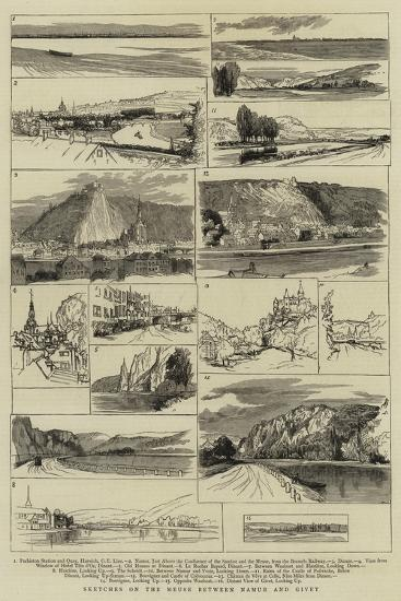 Sketches on the Meuse Between Namur and Givet--Giclee Print