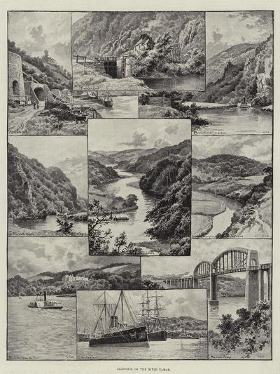 Sketches on the River Tamar--Giclee Print