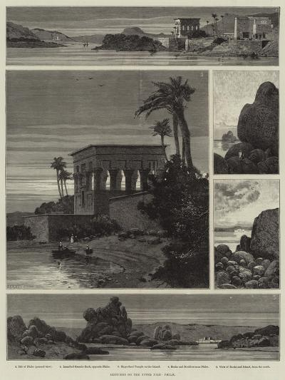 Sketches on the Upper Nile, Philae-Charles Auguste Loye-Giclee Print