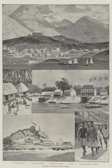 Sketches on the West Coast of Africa-Amedee Forestier-Giclee Print