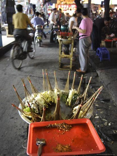 Skewers Cook in a Sichuanese Hotpot, Chengdu, China-Andrew Mcconnell-Photographic Print
