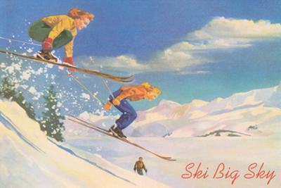 Ski Big Sky, Lady Skiers, Montana