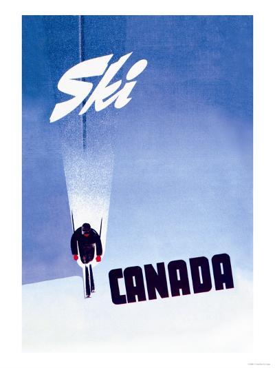 Ski Canada-P^ Ewart-Art Print