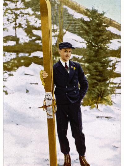 Ski Champion Vinjarengen of Norway at Lake Placid--Photographic Print