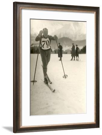 Ski Competitor--Framed Art Print