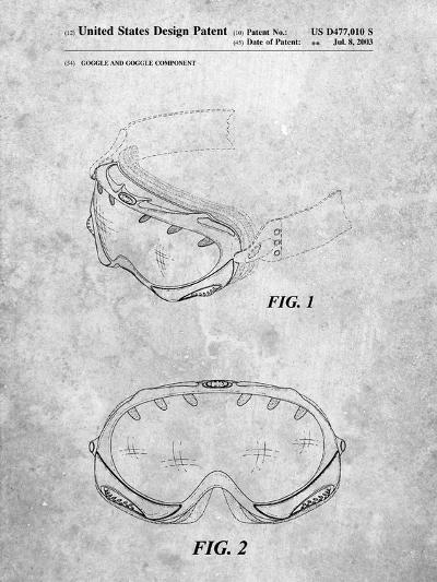 Ski Goggles Patent-Cole Borders-Art Print