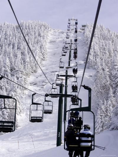 Ski Lift at a Resort-Tim Laman-Photographic Print