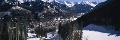 Ski Lifts over Telluride, San Miguel County, Colorado, USA--Photographic Print