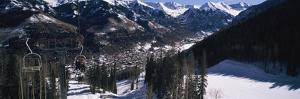 Ski Lifts over Telluride, San Miguel County, Colorado, USA